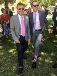 Horsing around - Team Sergeant Hardy flashing pink at the 2017 Sun Met (pic: Amanda Bloch)
