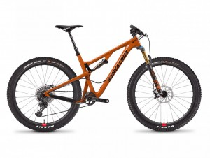 """Tallboy epicness - it looks orange, but is actually a slightly retro light brown (officially it's """"rust"""", which is kind of ironic considering it's made of carbon)"""