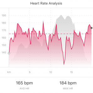 This is not the heart rate of someone actively trying to take it easy ... with this level of apparent effort I should have ridden the Prologue 10 minutes faster!