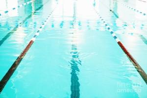 Swimming Pool Lane, a photograph by Skip Nall